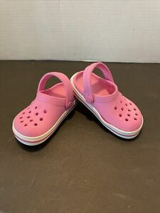 Crocs Pink  Toddler Size 6 Shoes Slip On Classic Sandals