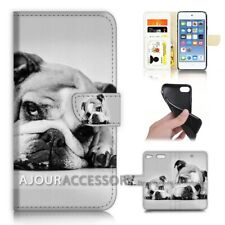 ( For iPod Touch 6 ) Wallet Flip Case Cover AJ40171 Bull Dog