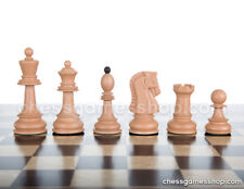 """Dubrovnik Plastic (wood imitation) chess pieces-Standard size,unweighted-3,5"""" KH"""