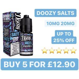 DOOZY Vape Nic Salts Shot 10ml Nicotine Salt E liquid Vape Juice 10MG 20MG 50/50
