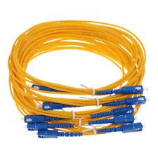 5x 3Meter SC/PC-SC/APC 9/125 Singlemode Fiber Optic Cable Patch Cord Jumper