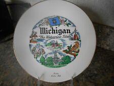 "Vintage 7 1/2"" Michigan Souvenir Plate"
