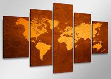 Cuadro en Lienzo ´ 160 x 80 cm Nr. 5508 mapa del mundo
