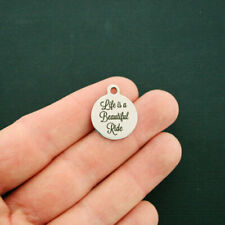 Ride Stainless Steel Charms - Life is a Beautiful - Quantity Options - Bfs1588