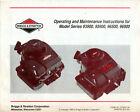 Briggs & Stratton Operating & Maintenance Instructions 93900 95900 96500 96900