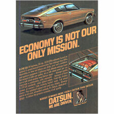 1978 Datsun B210 GX: Economy Is Not Only Mission Vintage Print Ad