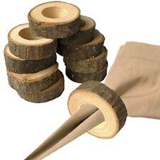 10pcs Wedding Napkin Ring Holders Napkin Rings Wood Chic Decor LA