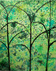 """STILL LIFE FOREST FIRE  PAINTING WEST DAVIS  ACRYLIC 20"""" NEW FROM GALLERY SALE"""