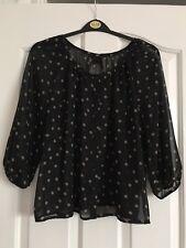 Women's Black/ Beige Top  by H&M ...Size 8/36 New