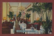 Divan Parisien Restaurant Vintage 'Colourpicture' linen postcard   qp436