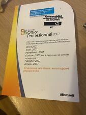 Microsoft Office Professional 2007 with Genuine License Product Key Card-MLK