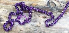 """NEW 16"""" NATURAL AMETHYST GEMSTONES UNCUT CHIP BEADS LOOSE DRILLED STRING"""