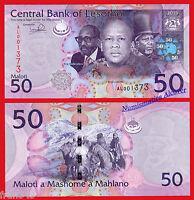 LESOTHO LESOTO 50 Maloti 2013 (2016) NEW SIGN Pick 23b SC / UNC