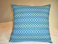 Blue Pillow Cover Diamond Navy Green White Geometric Boho Decor