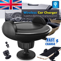 Car Charger Mount Air Vent Qi Wireless Charging Dock For Samsung Galaxy Note 8
