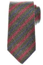 Luigi Borrelli Napoli Tie Cashmere 58 1/4 x 3 1/4 Green Red Stripe 05TI0300 $250