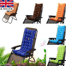 Removable Garden Rocking Deck Chair Outdoor Pool Thick Sun Seat Pad Cushion UK