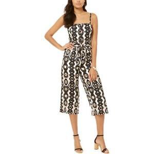 INC Womens B/W Smocked Bodice Capri Jumpsuit XS BHFO 6406