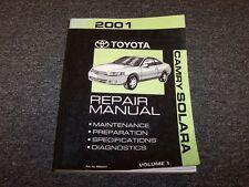 2001 Toyota Camry Solara Diagnostic Shop Service Repair Manual SE SLE 2.2L 3.0L