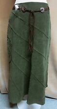 JM COLLECTION FULL LENGTH STRETCH SKIRT SIZE 12P IMPRESSIONISM GREEN NWT