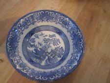 Ironstone Blue Staffordshire Pottery Bowls