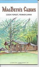 Set of 2 Vintage Note Pads- Macbeth's Cabins - 24 Pages (1970s)- Cook Forest, PA