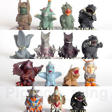 Iwakura inc. Godzilla finger puppet Full set of 15 Pcs. Gamera Zigra Guilala