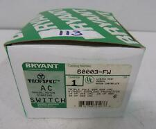 BRYANT TECH-SPEC 60A 600VAC AC MANUAL MOTOR STARTING SWITCH 60003-FW NIB
