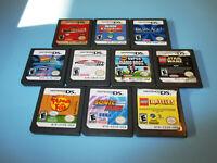 Lot of 10 Nintendo DS Lite DSi XL 3DS 2DS Games New Super Mario Kart Sonic +
