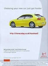 Seat Leon Cupra 1.8 20VT 2003 Magazine Advert #2989