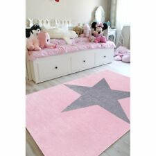SchwabenKids® Happy Rugs Teppich Kinderteppich Stern Spielteppich 80x150cm rosa