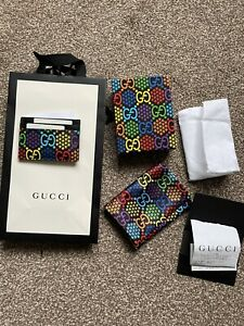 Gucci GG Psychedelic-print card holder