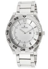 CROTON CA301216SSDW OVERSIZED WHITE DIAL QUARTZ MEN'S WATCH $250.00 RETAIL