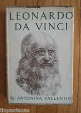 Leonardo Da Vinci The Tragic Pursuit of Perfection A Vallentin 1st Ed. Biography