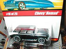 Hot Wheels Classics series 1  #16 CHEVY NOMAD dark blue/black Chevrolet wagon