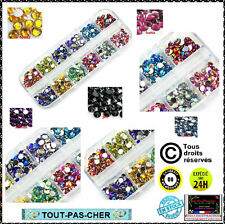 3000 Strass Cristal 3D Perles Décorations Ongles Nail Art Manucure 12 Couleurs