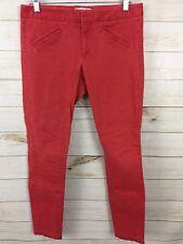 Womens GAP Ultra Skinny Red Stretch Jeans Size 6 (G5)