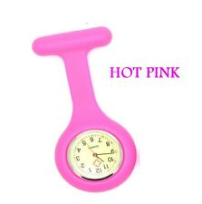 GLOW IN THE DARK Nurse Watch Fob Watch Medical Doctor Brooch Pin Silicone Watch
