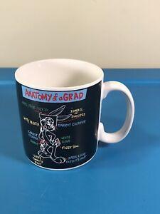 """Applause Mug Cup Looney Tunes Warner Bros Bugs Bunny """"Anatomy of a Grad"""""""
