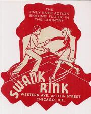 Vtg 1940s Knee Action Skating Floor Swank Rink Western At 11th Chicago Illinois