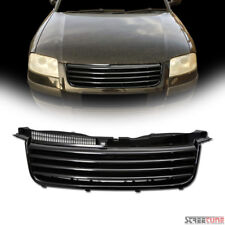 For 01-05 VW Passat B5.5 Blk Front Hood Badgeless Horizontal Sport Grill Grille