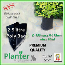 2.5 litre Premium Planter Bags - varying quantities. Poly Plant bag, Grow bag