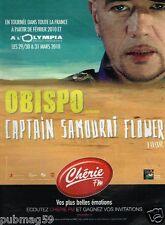 Publicité Advertising 2010 Concert Pascal Obispo avec Radio Chérie FM