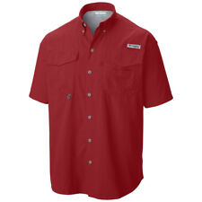 3c99ed93772 Columbia Pfg Bahama II Mens Fishing Shirt S/sleeve Sunset Red Asst Sizes  Large