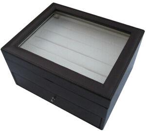 60 Pair Black/Grey Cufflink Box
