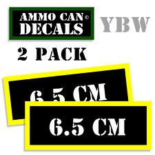 6.5 CM Ammo Label Decals Box Stickers decals - 2 Pack BLYW