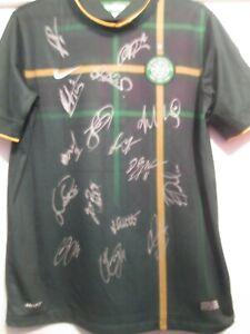2014-2015 Squad Signed Celtic Away Football Shirt COA /48103
