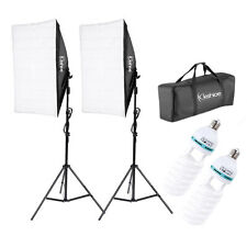 2PCS Softbox Light Stand Photography Photo Equipment 2x 135W 5070 Light Bulb