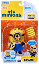 MINIONS DELUXE FIGURE MOVIE EXCLUSIVE POSEABLE BANANA MUNCHING STUART NEW