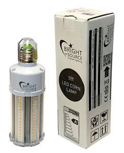 LED Corn Light 30w - Replaces 100w Metal Halide / SON ES / E27 6000k Daylight